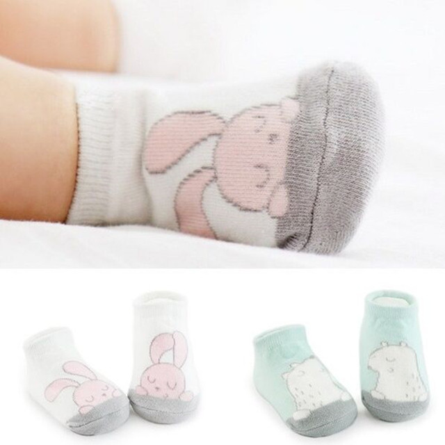 Cartoon Unisex Newborn Anti-Slip Socks