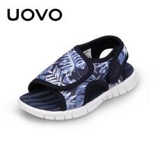 UOVO תינוק פעוט סנדלי 2020 קיץ ובנות בני אור משקל בלעדי ילדי סנדלים באיכות גבוהה גודל 24 # 32 #