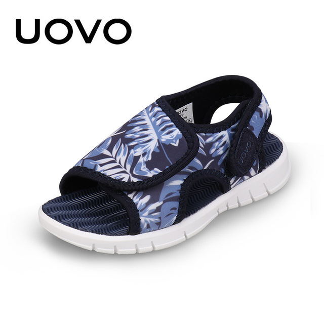UOVO bebek yürümeye başlayan sandalet 2020 yaz ayakkabı kızlar ve erkekler için hafif taban çocuk sandalet yüksek kalite boyutu 24 # 32 #