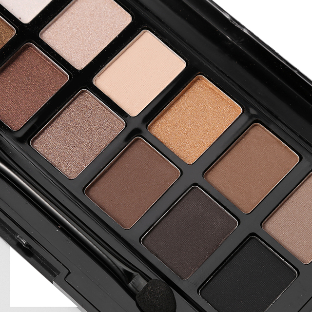 Ucanbe 12 Colors Pro Nude Earth Color Makeup Eyeshadow Palette with Brush Smoky Eye Shadow Shimmer Matte Mineral Waterproof Kits 5