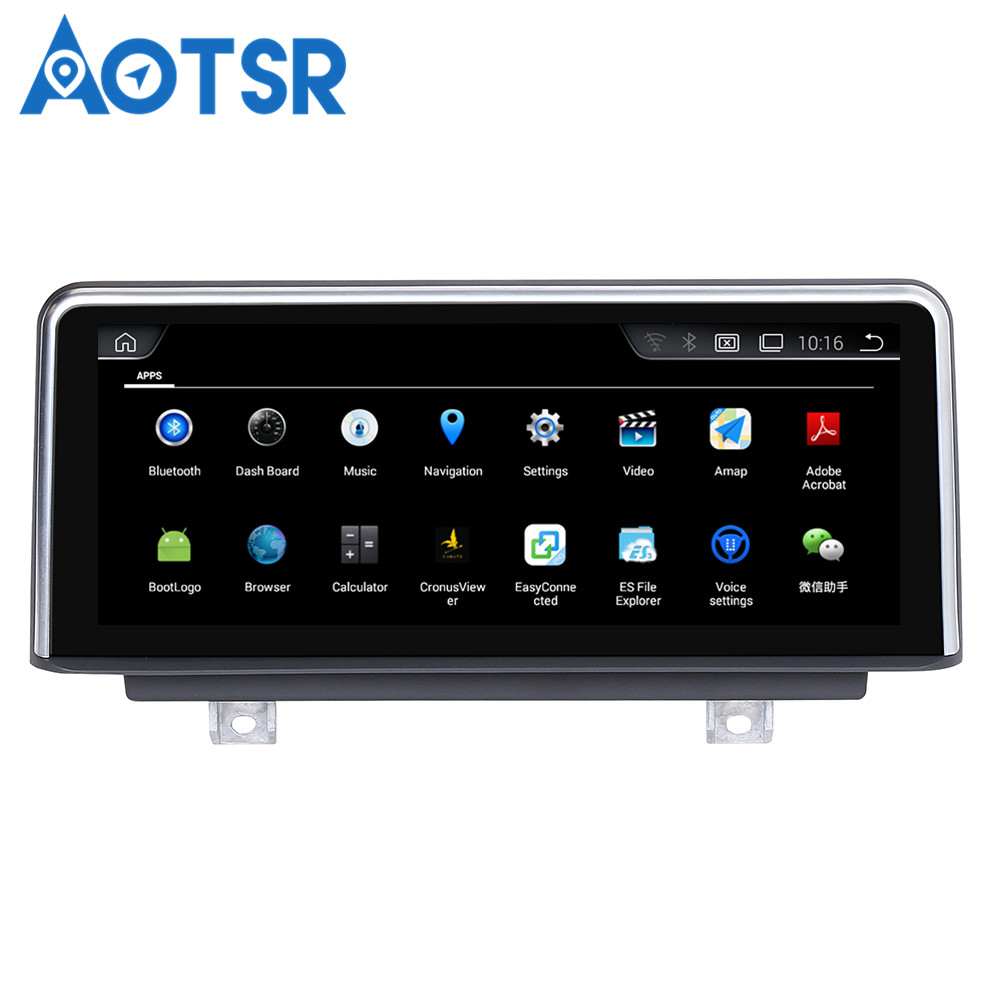 Aotsr <font><b>Android</b></font> 4.4 Car GPS Navigation NO DVD Player Headunit For <font><b>BMW</b></font> 1 Series <font><b>F20</b></font>/F21(2011-2016) 1 Din Radio Multimedia Stereo image