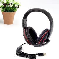 USB Stereo Headphone Microphone With MIC GAME Gaming Headset Gaming Headphones High Quality Children Gift