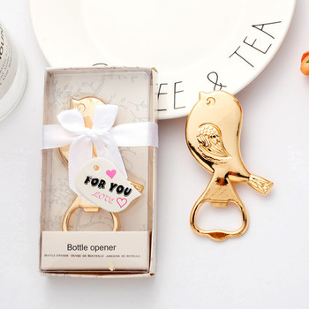 50pcs New Creative Alloy Love Bird Bottle Opener Party Favors and Gifts Wedding Supplies Free Shipping WB264