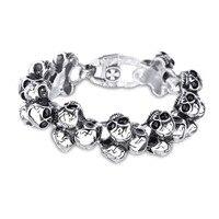 High Grade Retro Titanium Steel Bracelet Creative Personality Personalized Stainless Steel Skull Men S Bracelet Jewelry