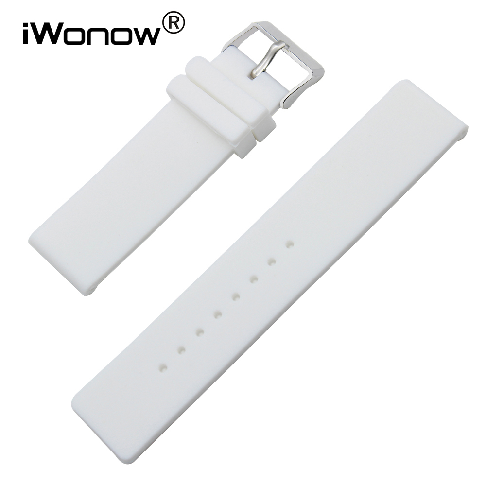 Silicone Rubber Watch Band 17mm 18mm 19mm 20mm for DW Daniel Wellington Stainless Steel Pin Buckle Strap Wrist Belt Bracelet