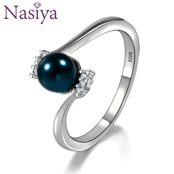 577387f9acef Moda elegante anillos de perlas para mujeres de agua dulce Natural ...