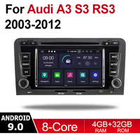 2 Din Car Multimedia Player Android 9 Auto Radio For Audi A3 S3 RS3 8P 2003~2012 MMI DVD GPS 8 Cores 4GB 32GB Bluetooth WIFI MAP