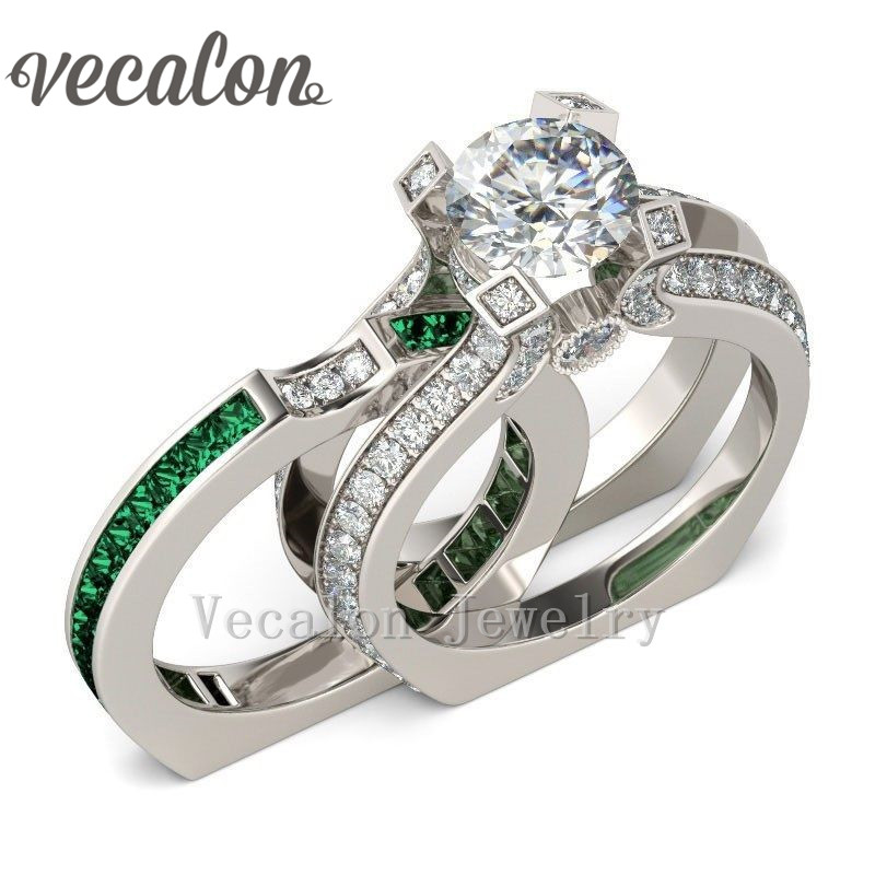 Compare Prices on Emerald Wedding Ring Online ShoppingBuy Low