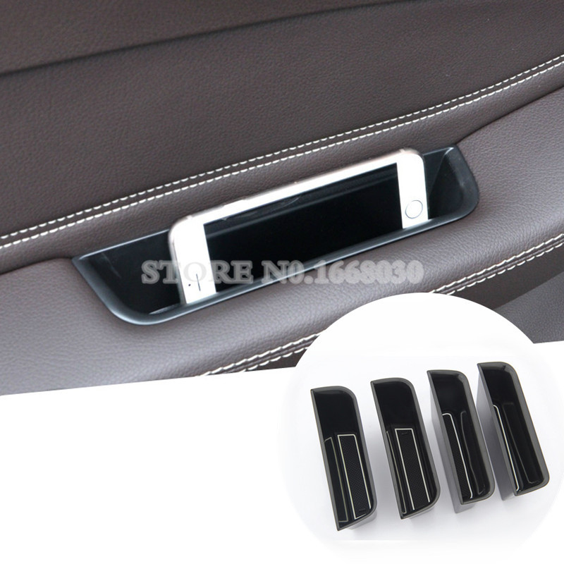 Inner Side Door Storage Box Holder 4pcs For Benz GLE W166 /Coupe C292 2015-2017