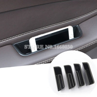 Inner Side Door Storage Box Holder 4pcs For Benz GLE W166 Coupe C292 2015 2017