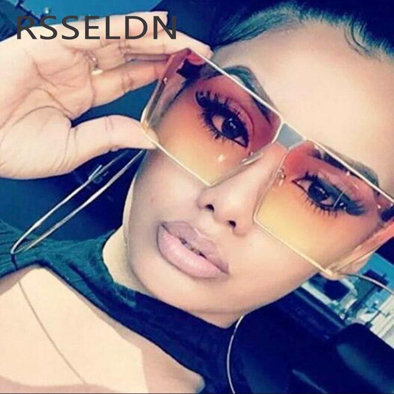 RSSELDN Male Fashion Flat Top Sun Glasses Women Brand Sunglasses Men Retro glasses 2017 Rose gold Frame Lady Mirror UV400