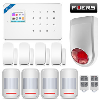 FUERS W18 Wireless Home Alarm Security System Wifi GSM IOS/Android APP Remote Control LCD GSM SMS GPRS Burglar Siren kit