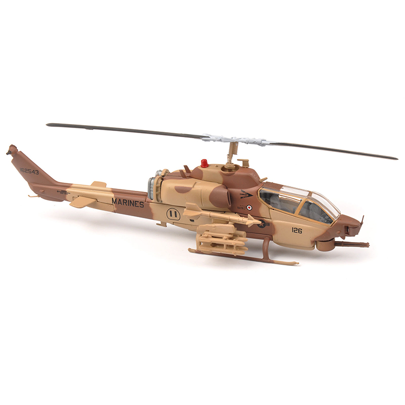 1:72 MARINES AH-1W Super Cobra Armed Helicopter Aircraft Model IXO Collectable Helicopter Toy Model