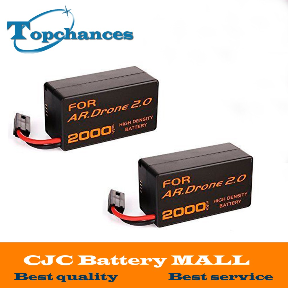 2PCS Newest High Capacity 2000mAh 11 1V Powerful Li Polymer Battery For Parrot AR Drone2 0