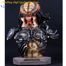 Free Shipping Aliens VS Predator Anime 14 Inches Toy Predator Bust GK Statue Action Figures Collectible Model FB190