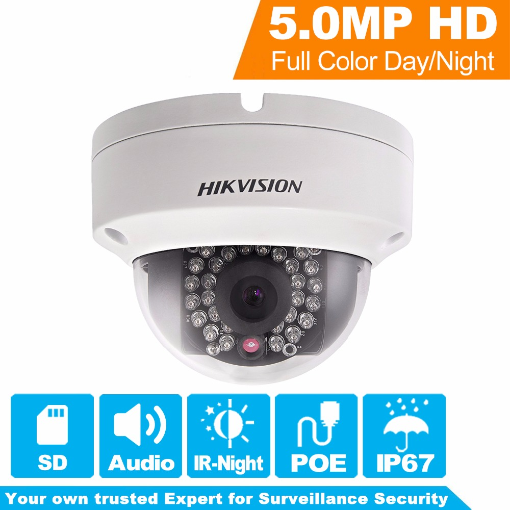 In Stock Hikvision Overseas PoE IP Camera DS-2CD2152F-IS Full HD Dome Network CCTV Camera Replace DS-2CD2155F-IS 16pcs lot hikvision ds 2cd2735f is ip camera 3mp full hd ip66 dome camera water proof poe power network ir