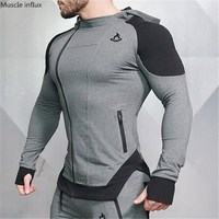 Men's Workout Fitness Hooded Sweatshirt Gyms brand Tops 2018 Men Casual Hoodies Men Bodybuilding Sweatshirt Jackets