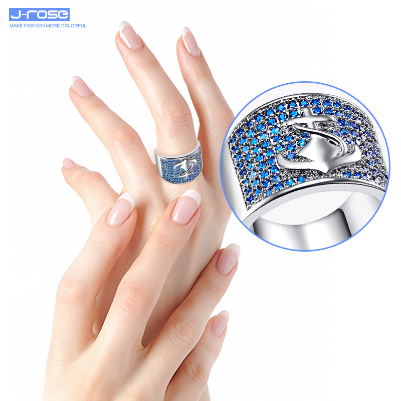 JROSE Art Deco Jewelry Vintage Anchor Wedding Rings Women Mens Lord ...