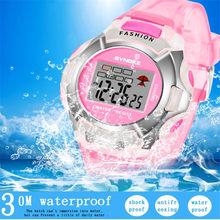 a33ff2587cd8 Nuevo reloj impermeable niños niñas LED Digital deportes relojes plástico  niños alarma fecha Casual reloj seleccionar
