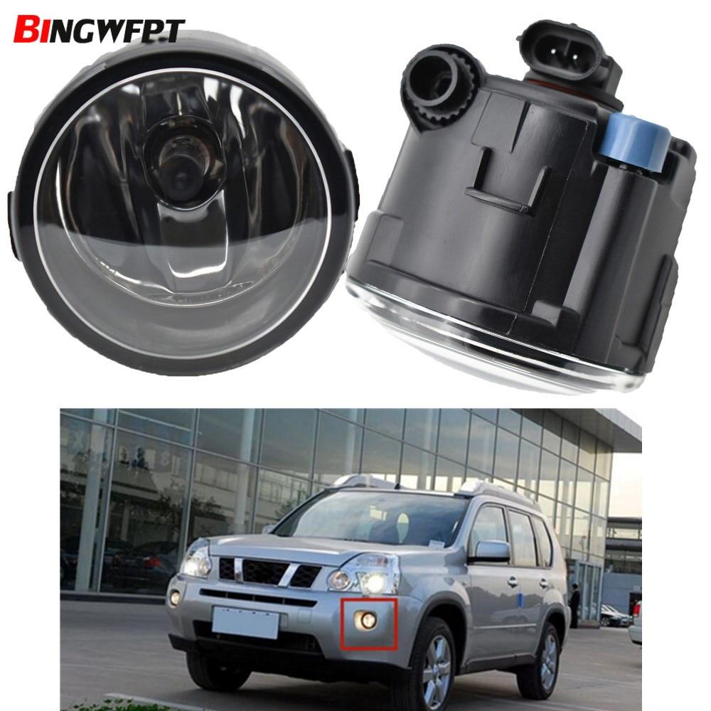 2x Car LED Faróis nevoeiro para Nissan X Trail-(T31) 2007 2008 2009 2010 2011 2012 2013 Lâmpadas de Halogéneo de Nevoeiro