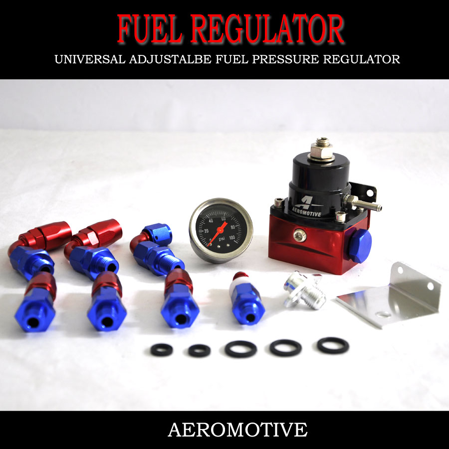 KOWELL-Racing Car Universal Adjustable Fuel Pressure Regulator (With Gauge /No with ) For BMW E39 5-Series (2000-)