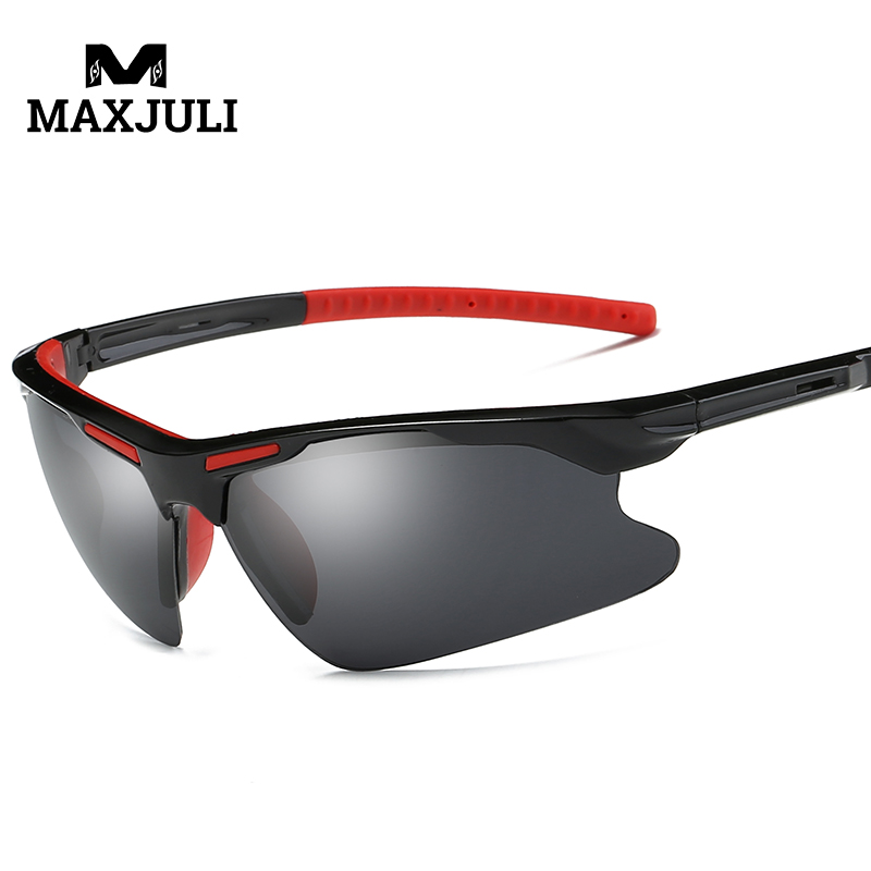 MAXJULI Bike Cycling Glasses Sports Sunglasses UV400 Polarized for Fishing Golfing Driving Running Eyewear Protection Goggles