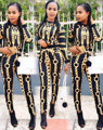 2016 Hot fashionfull sleeve print rompers o-neck long rompers overalls for women
