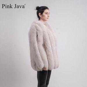 Image 4 - PINK JAVA QC1824 real fox fur coat women fur coats winter jacket natural fox clothes hot sale  high quality  fur overcoat