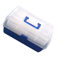 35*19*21cm 4 Layers Multifunctional Fishing Tackle Box Lure Container Accessories Storage Case Lure Box