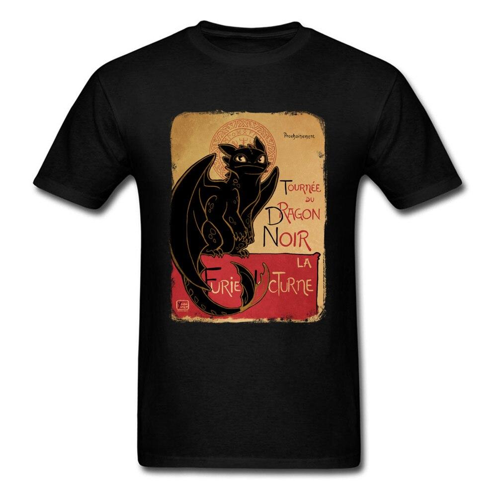Summer Black Dragon T-shirt Toothless Tops Men T Shirt How To Train Your Dragon Tshirt Vintage Clothing Cotton Fabric