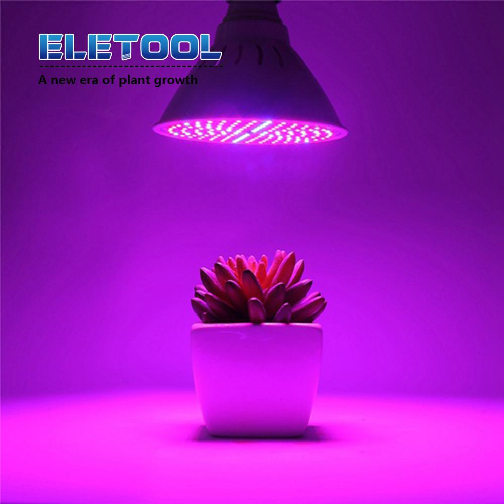 200 LED Plant Flower Grow Light Full spectrum Lamp red blue UV IR Lights clip for Veg Indoor E27 Green house XF30 in LED Grow Lights from Lights Lighting