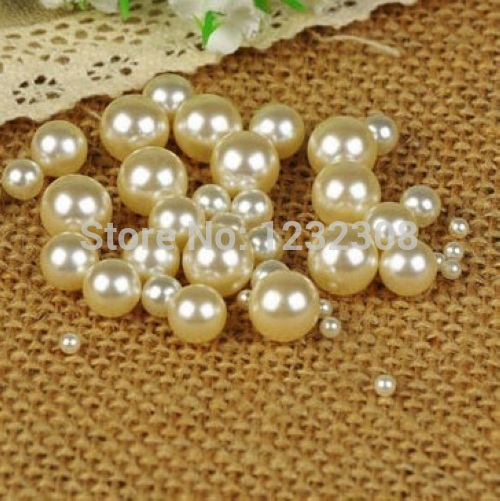 1.5mm to 18mm ivory color no hole round pearls no hole imitation beads craft pearl beads jewelry pearls art diy beads free shipping imitation pearls chain flatback resin material half pearls chain many styles to choose one roll per lot