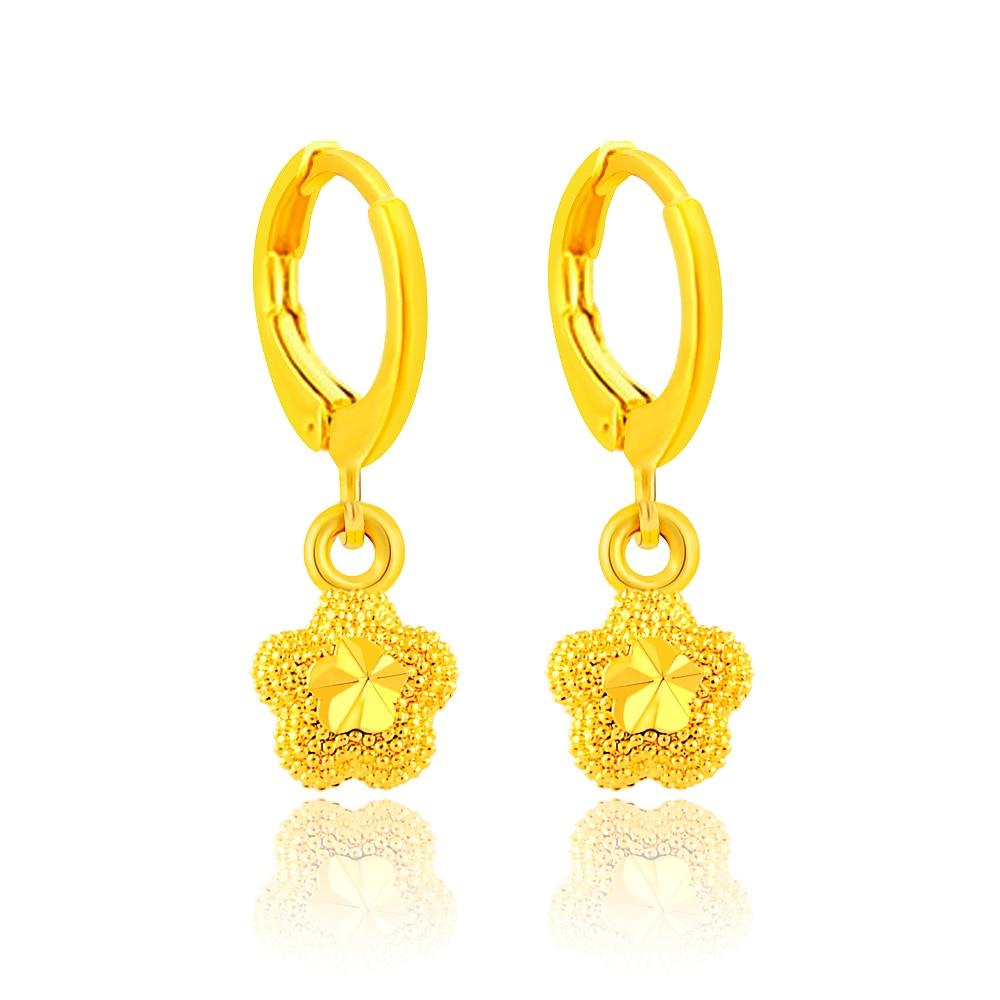 Women Fashion Jewelry Gold Plated Long Dangle Drop Chain Hook Earrings Ear Stud