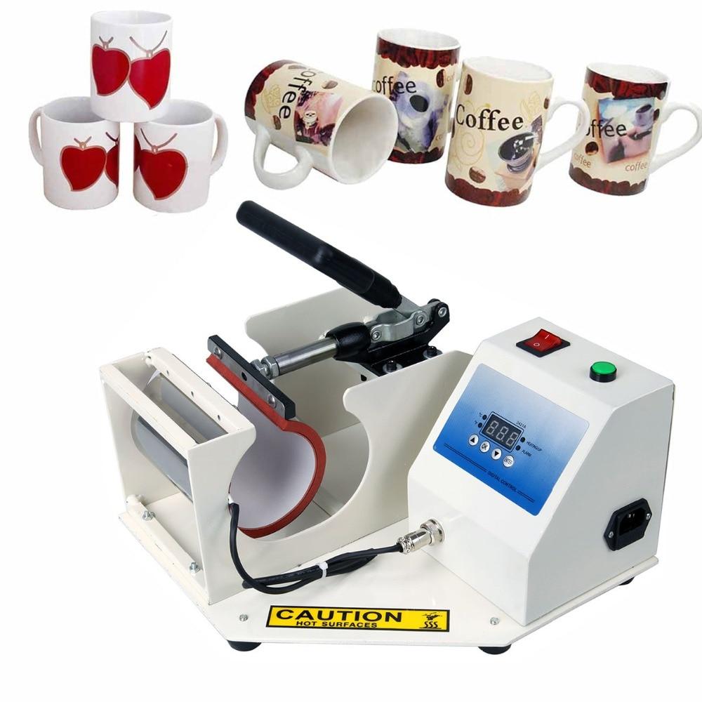 110V Digital DIY Cup Mug Heat Transfer Press Machine Sublimation Coffee Mug Printing Printer with Automatic Timer digital heat transfer baking cup machine single display quaff