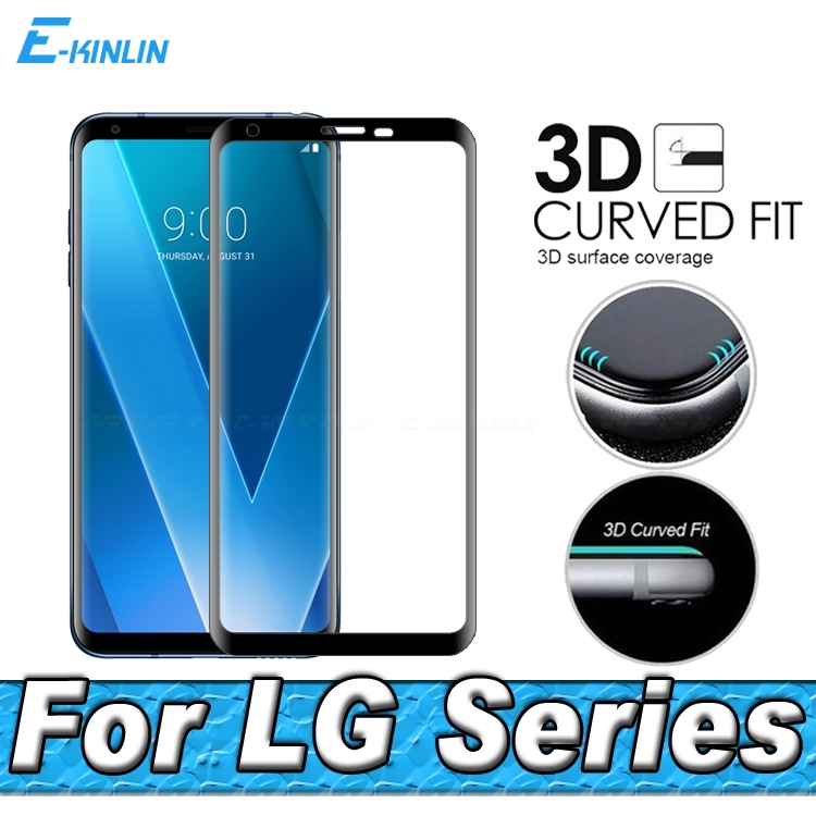 3D Curved Edge Tempered Glass Full Cover Screen Protector Film For LG Velvet V30 V30S V35 V40 V50 V50S G8X G8 G7 Plus Thinq 5G