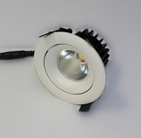 Free shipping new white shell Dimmable 15w led Ceiling 100lm/w COB LED Downlight 15W LED Down Light Epistar Chip CE & RoHS