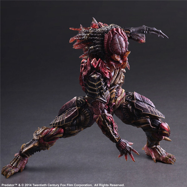 Play Arts 28cm Alien vs Predator Scar Predator Action Figure Model Toy