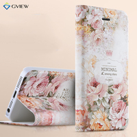 Gview Luxury PU Leather 3D Relief Flip Cover Case For Apple IPhone 5S SE IPhone 5