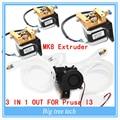 Экструдер Полный комплект-Lite6 Латунь Многоцветный Сопла 3 В 1 ИЗ 0.4 мм Для 1.75 мм с MK8 шагового двигателя полный комплект для Prusa I3