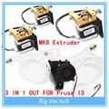 Bico extrusora kit Completo-Lite6 Bronze Multi Cor 3 EM 1 PARA FORA 0.4mm Para 1.75mm com MK8 motor de passo kit completo para Prusa I3