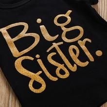 Big Sister Printed Siblings Matching Girl's Clothes Set