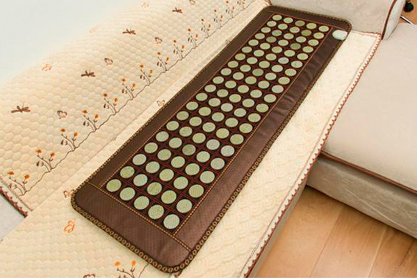 Free Shipping for Natural Jade Pad Tourmaline Heated Mat Health Care Pad Full Body Massage Mat As Seen On TV 150x50cm For Sale body slimming relax massage new dance pad non slip dancing step dance game mat pad for pc blanket relax tone leisure recreation