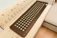 Free Shipping for Natural Jade Pad Tourmaline Heated Mat Health Care Pad Full Body Massage Mat As Seen On TV 150x50cm For Sale