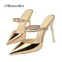 5100db17e3c6 plardin women Sandals Concise Fashion Ankle Strap shoes woman pointed toe  Thin Heels women s Buckle slingbacks