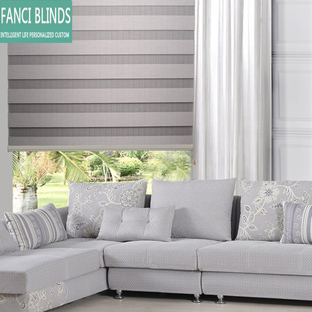 free shipping European sytle double roller blinds zebra blinds china factory with blackout custom made blind