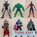 6 pcs/set super hero avengers theme children toys, suit for 3+ kid, birthday/ Christmas gift figures dolls for boy, spider bat