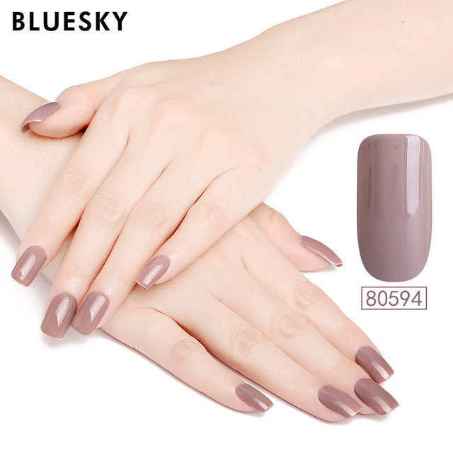 BLUESKY Gel Nail Polish 1PCS Continuing Soak off UV Gel Nail Polish ...