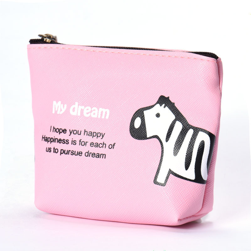 New Fashion women wallet ladies Business Waterproof Zipper Pencil Case Cute Portable Key Coin Purse Makeup Bag organizer new cute hello kitty handbag pink red girls purse cartoon cat coin bag ladies keychain wallets zipper key holder cash case