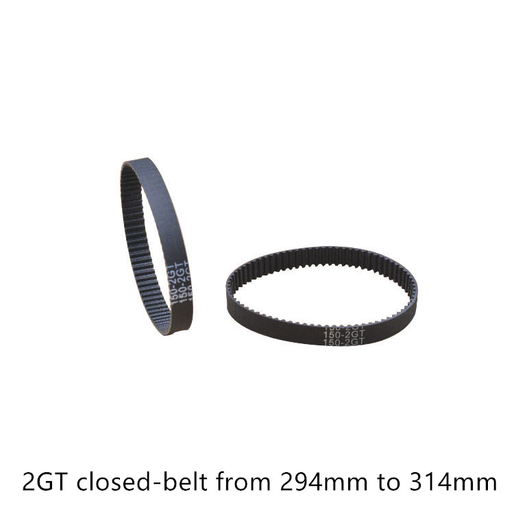 3D printer belt GT2 closed loop rubber 2GT timing belt 294 296 298 300 302 304 306 308 310 312 314 GT2 Length 294mm 296mm 314mm