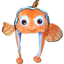 Мультфильм аниме плюшевая оранжевая рыбка Немо зимняя теплая шапка взрослые дети ребенок фильм милые животные рыба-клоун Немо мягкая Косплей шапка